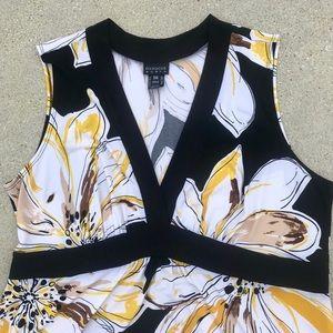 Enfocus Studio Dresses - EN FOCUS FLORAL MAXI DRESS black 18W white yellow